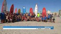Rugby : Entraînement à la plage de Palavas-les-Flots pour le staff et les joueurs du MHR.