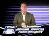 Mr. McMahon announcement the new General Manager or Smackdown!