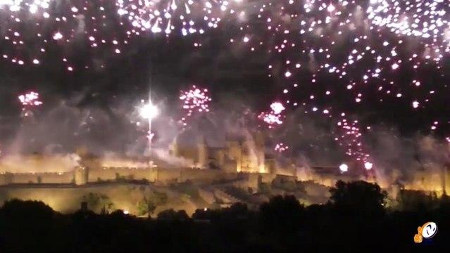 Découvrez en avant première les nouveautés 2013 du feu d'artifice de la Cité de Carcassonne pour le 14 juillet.