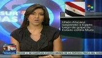 Unión Africana suspende a Egipto ante golpe de Estado