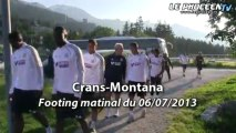 Le footing matinal des Olympiens à Crans-Montana