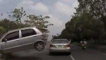 Terrible accident de voiture en Chine