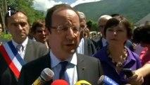 Pyrénées: F.Hollande à la rencontre des sinistrés