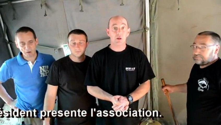 13 07 07 concours de pêche à Javerlhac, le president présente l'association