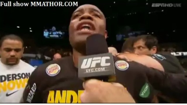 #Anderson Silva post fight interview UFC 162 Silva vs Weidman