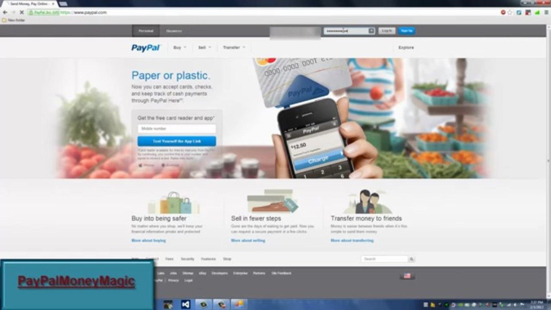 [PayPal Money Adder] Download New PayPal Money Adder 2013 Free [v4.65]