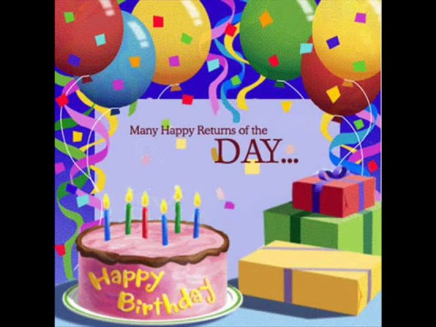 Remarkable Best Happy Birthday Song Video Dailymotion Personalised Birthday Cards Petedlily Jamesorg