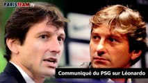 Communiqué du PSG sur la démission de Leonardo
