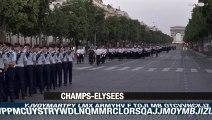Répétitions sur les Champs Elysées pour le défilé du 14 juillet