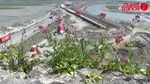 L'arrivée du Tour de France, vue du Mont Saint-Michel