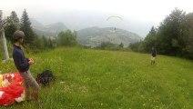 Déco  Parapente depuis les pistes de Saint Hilaire