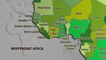 Animation de CARTE Afrique - colonies et décolonisation