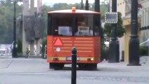 Bratislava chu chu bahn bratislava roten Bahn durch Bratislava auf den Berg und durch die Stadt