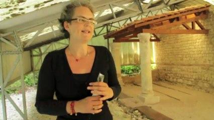 Laurence raconte l'histoire du sanctuaire du site archéologique Nemetacum à Arras