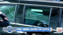 57th Presidential Inauguration-President Barack Obama Leaves Whitehouse For Inauguration Address