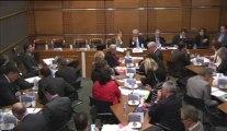 29 mai 2013, Bertrand Pancher auditionne en commission de développement durable Madame Karine Foucher, Maître de conférence, sur les questions prioritaires de constitutionnalité et le droit de l'environnement