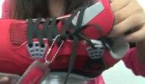 "Nike Air Jordan IV ""Fire Red Toro"" - Fire Red White, Black, Cement Grey from 360kicks"