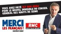 Merci les Français - 167 000 000 € pour le nouvel immeuble du Conseil général des Hauts-de-Seine