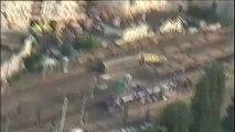 Brétigny : images aériennes de la catastrophe ferroviaire