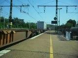 Passage d'un train de fret Akiem en gare de Saint Fons (69)