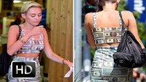Miley Cyrus Bares Midriff In Money Dress
