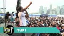 "Pusha T Raps 'I Don't Like' b/w ""Grindin'"" at the Brooklyn Hip-Hop Festival 2013"