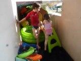 toboggan dans la piscine juillet 13
