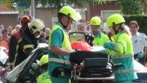 Twee gewonden bij frontale botsing Tweede Exloermond - RTV Noord