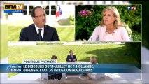 Politique Première: l'optimisme de François Hollande raillé à droite et à gauche - 15/07
