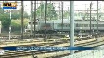 Premier passage d'un train en gare de Brétigny-sur-Orge depuis l'accident - 16/07