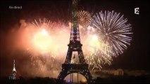Feux d'artifices du 14 juillet à la Tour Eiffel (France 2) 3/3