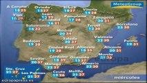 Previsión del tiempo para este miércoles 17 de julio
