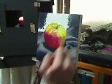 Oil Painting demo - Still life - Pink lady apple by artist Ben Sherar