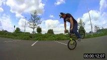 Longest Nose Manual ever! World Record on a BMX Bike!