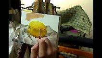 Oil painting demonstration - Lemon still life by Ben Sherar