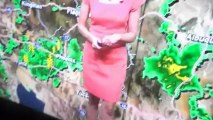 April Warnecke looking very pretty in a very pretty pink dress