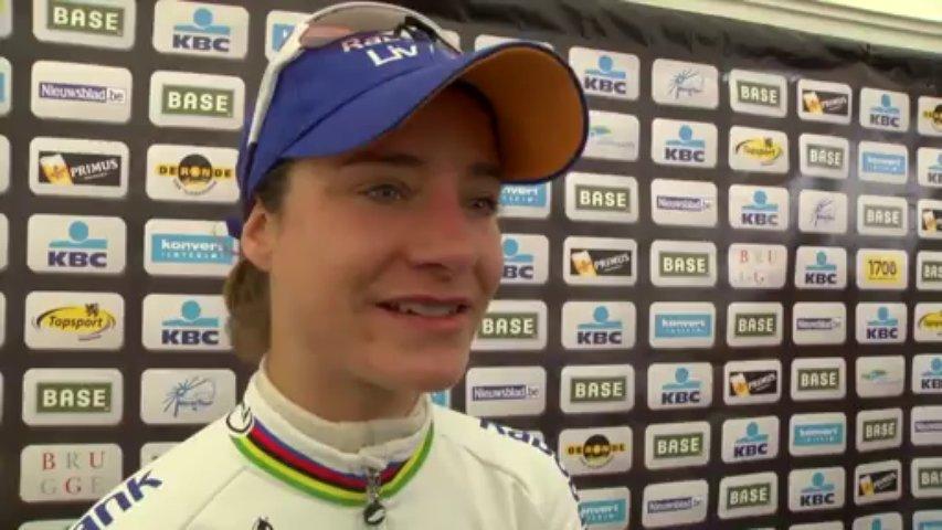 Marianne Vos wins Women's Tour of Flanders – 2013 UCI Women's Road World Cup. Tour de Flandre féminin.