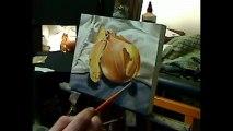 Still life painting demo - Brown onion by Ben Sherar