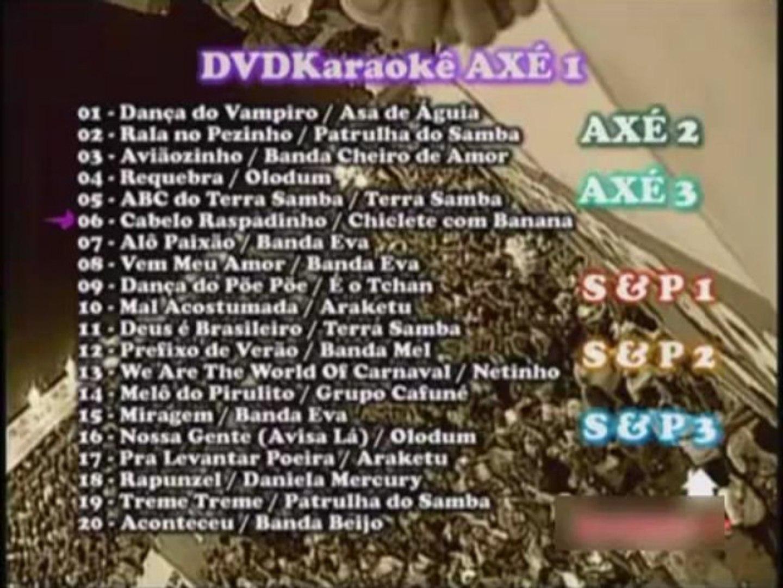 DVDokê, Karaokê -  Axé / Samba / Pagode - 120 músicas