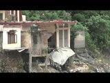 Damaged houses in Rudraprayag - Uttarakhand Floods