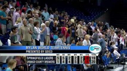 World TeamTennis Highlights: Springfield Lasers vs Orange County Breakers July 13, 2013