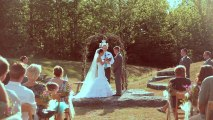 Adorable bride and groom exchange vows. WHITNEY + ADAM, A Wedding at DePauw Nature Park in Greencastle, Indiana