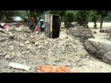 Silt is spreading around houses and forming mounds in Sili village, Uttarakhand