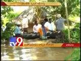 Water levels in Godavari croesses danger level near Bhadrachalam
