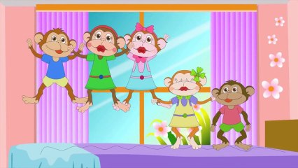 Five Little Monkeys Jumping On The Bed with Lyrics - Kids Songs Nursery Rhymes by eFlashApps