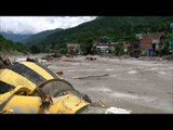 Remains of a truck half buried in silt: Aftermath of Uttarakhand Floods