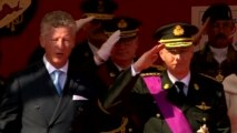 New Belgian King presides over military parade