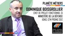 Planète Métiers : Dominique Boisgrollier (promo 2012) - Chef de projet fonctionnel SI