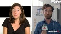 """22/07/13 : Les Experts de Bourse Direct dans l'émission """"Duplex Bourse"""" sur Décideurs TV"""