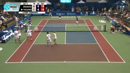 World TeamTennis Highlights: Orange County Breakers vs Philadelphia Freedoms July 19, 2013